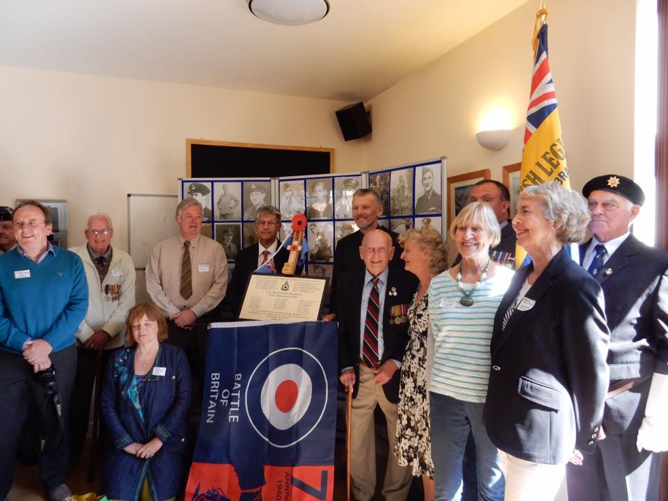 75th anniversary of the battle of britain plaque unveiling RAF Warmwell 152 Hyderabad Squadron