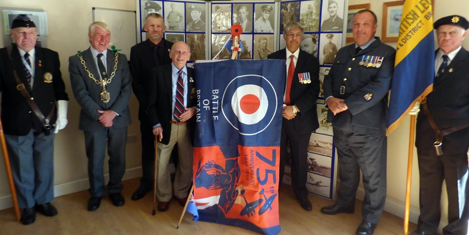 75th anniversary of the battle of britain plaque unveiling RAF Warmwell 152 Hyderabad Squadron 10