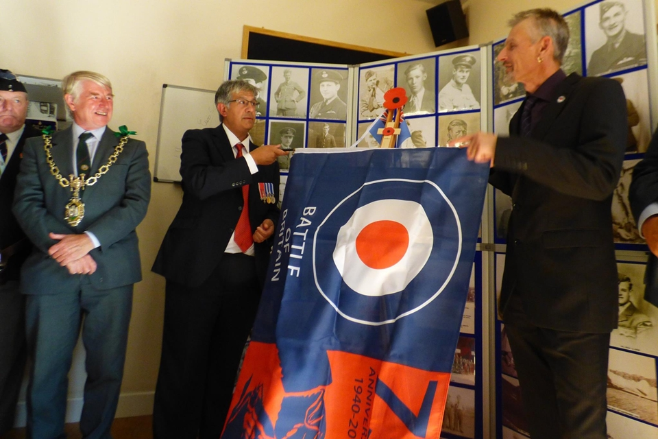 75th anniversary of the battle of britain plaque unveiling RAF Warmwell 152 Hyderabad Squadron 12