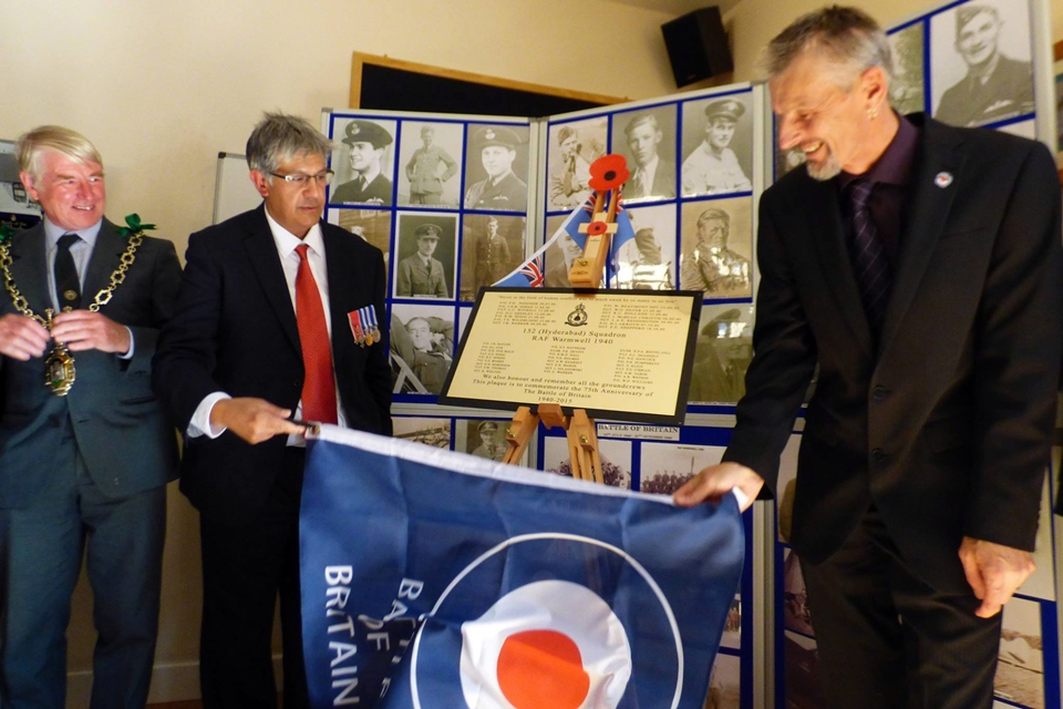 75th anniversary of the battle of britain plaque unveiling RAF Warmwell 152 Hyderabad Squadron 13