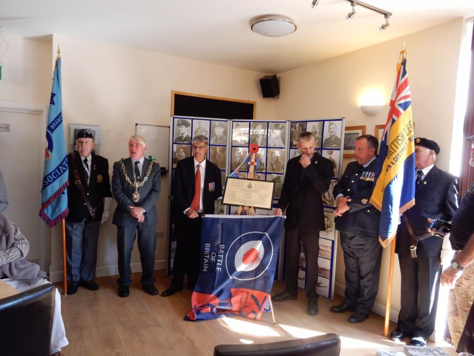 75th anniversary of the battle of britain plaque unveiling RAF Warmwell 152 Hyderabad Squadron 15