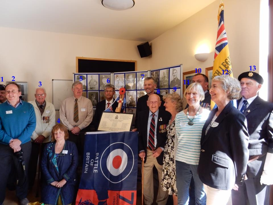75th anniversary of the battle of britain plaque unveiling RAF Warmwell 152 Hyderabad Squadron 16