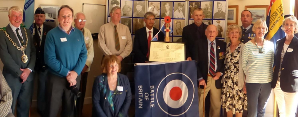 75th anniversary of the battle of britain plaque unveiling RAF Warmwell 152 Hyderabad Squadron 17