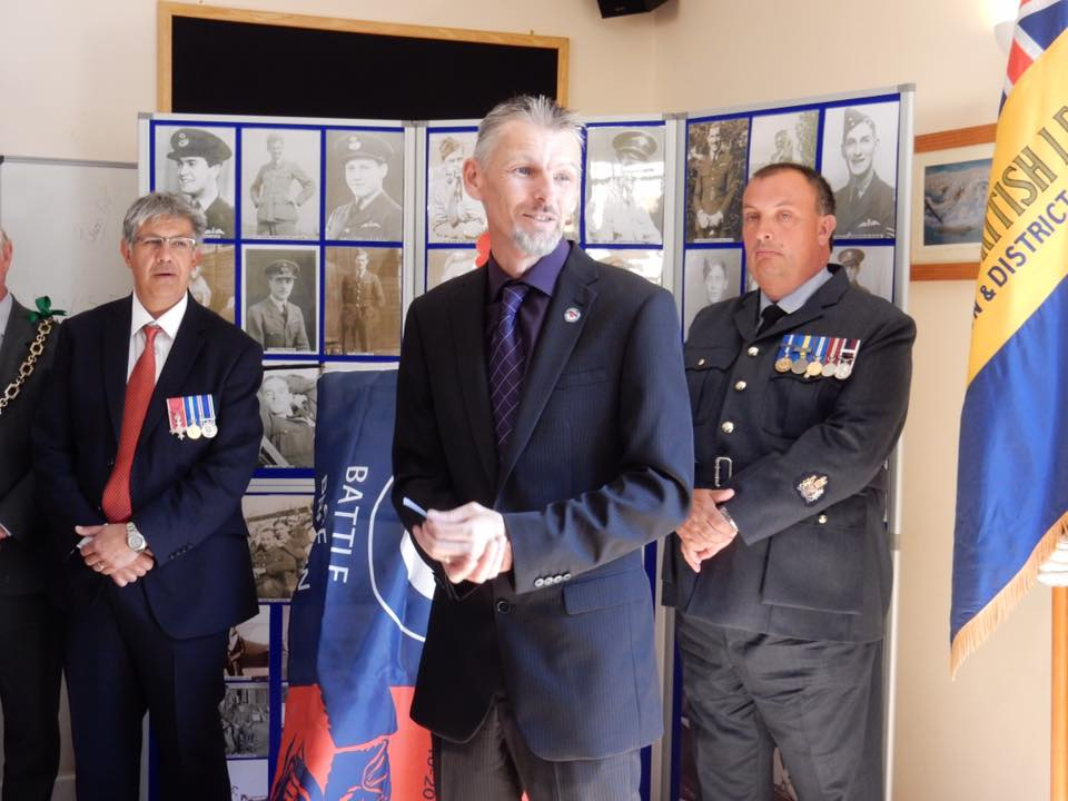 75th anniversary of the battle of britain plaque unveiling RAF Warmwell 152 Hyderabad Squadron 5