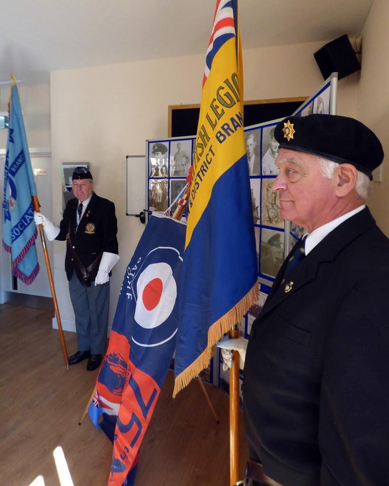 75th anniversary of the battle of britain plaque unveiling RAF Warmwell 152 Hyderabad Squadron 6