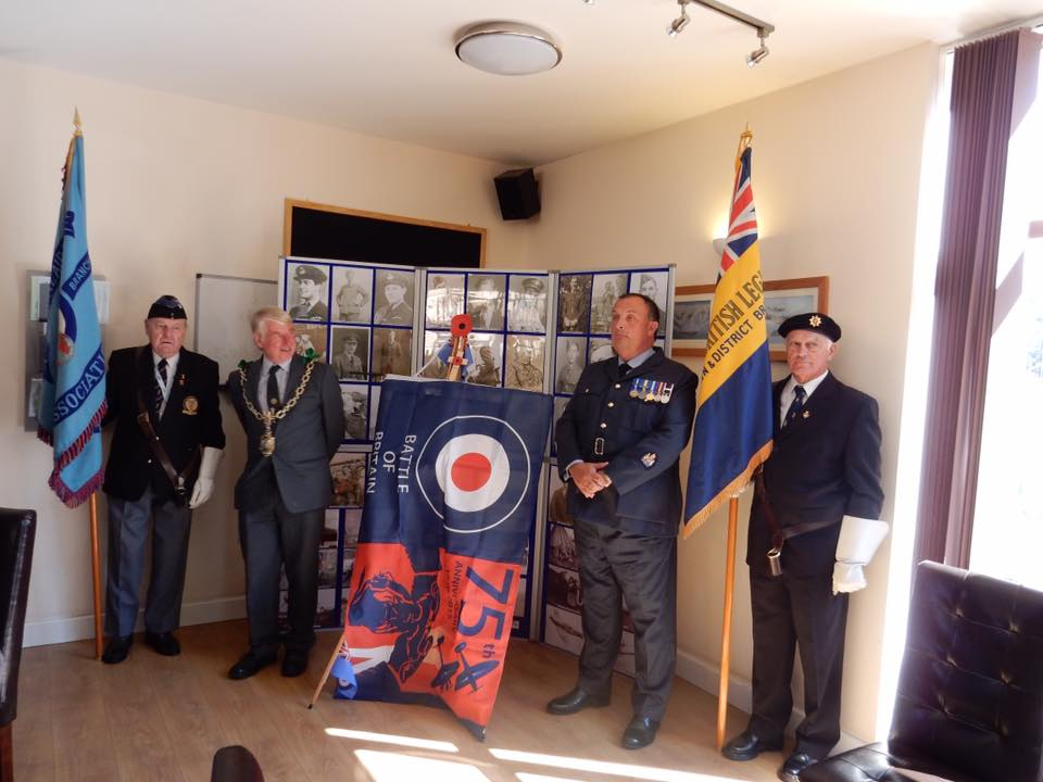 75th anniversary of the battle of britain plaque unveiling RAF Warmwell 152 Hyderabad Squadron 6A