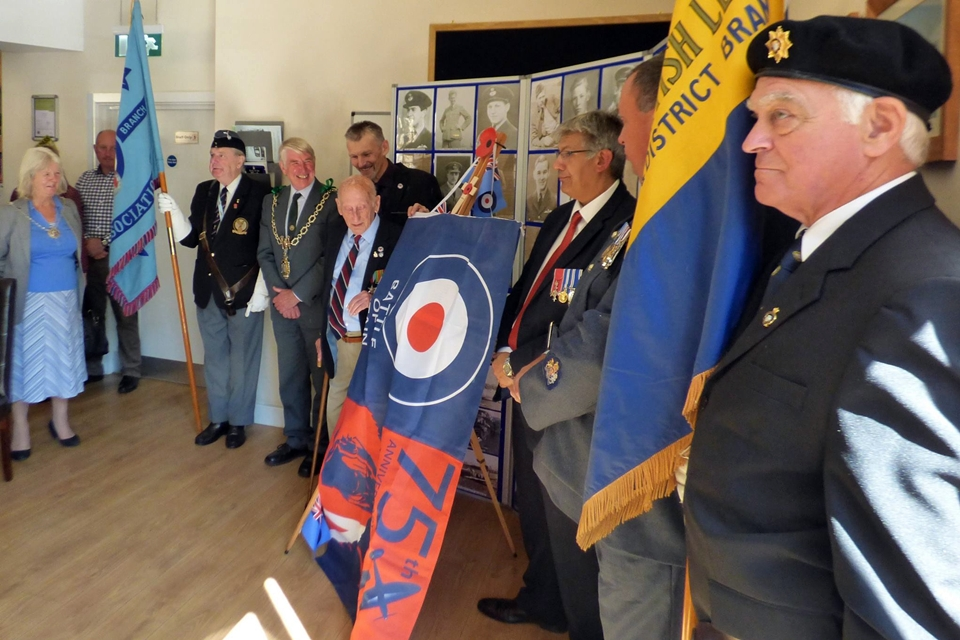 75th anniversary of the battle of britain plaque unveiling RAF Warmwell 152 Hyderabad Squadron 7