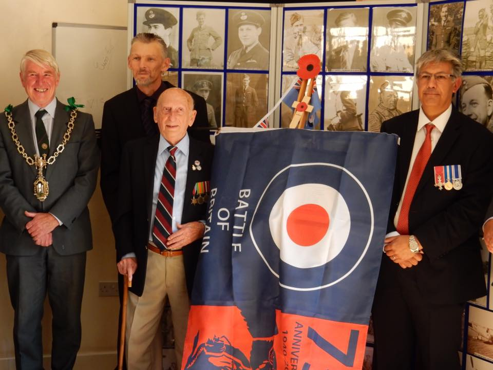 75th anniversary of the battle of britain plaque unveiling RAF Warmwell 152 Hyderabad Squadron 8