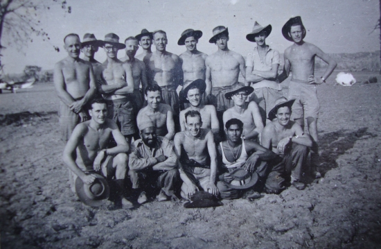 Cpl, Eric Salisbury, 152 Squadron. right of middle row, with glasses