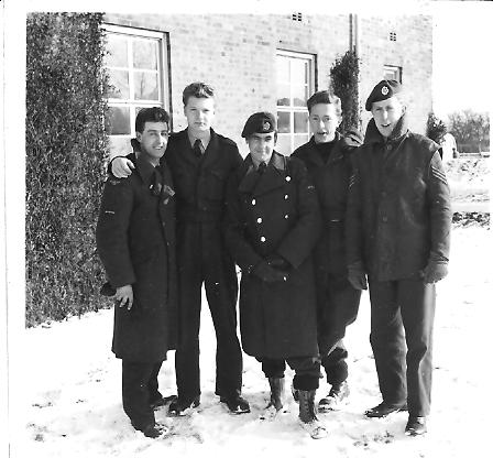 Outside_152_Sqdn_block_-_few_groundcrew_-_1956