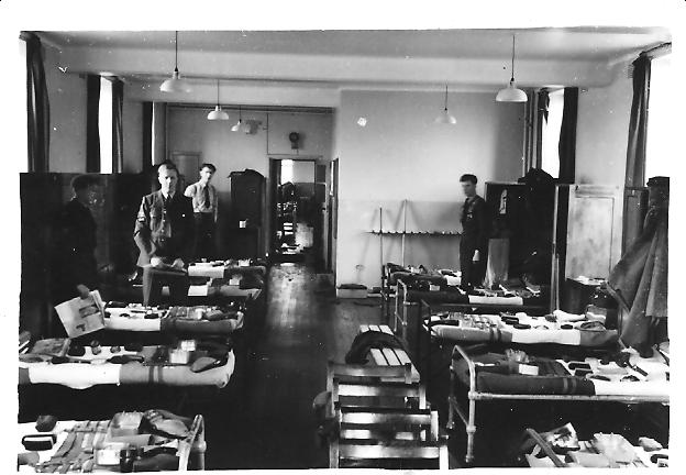 Preparing_for_kit_inspection_-_1954